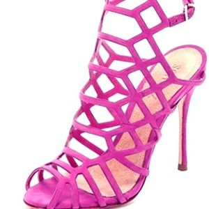 New York & Co. cage pink heels